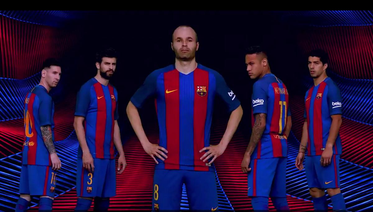 Barça eert Cruijff met nieuwe thuisshirt