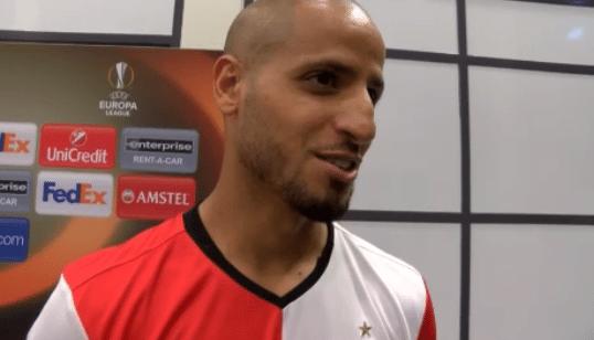 'El Ahmadi in gesprek met Franse promovendus'