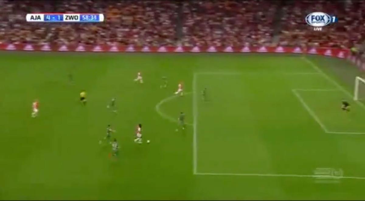 Traoré scoort eerste Eredivisie-goal voor Ajax