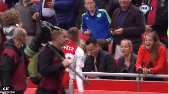 Ziyech maakt zich niet populair bij Ajax-fan