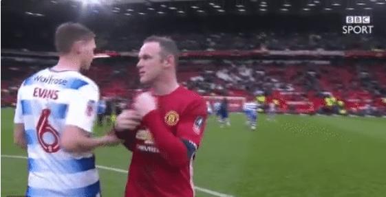 Update: Reading-speler wisselt toch shirt met Rooney