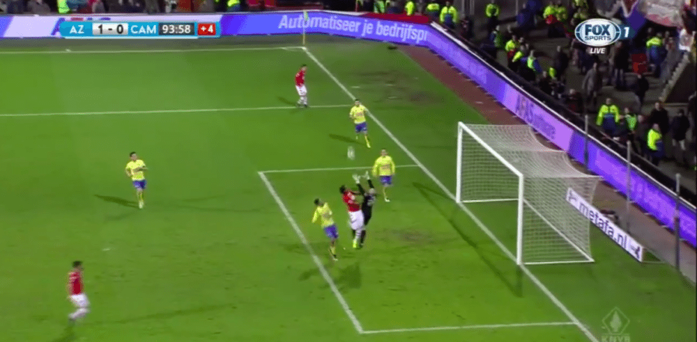 AZ-doelpunt in laatste seconden wordt afgekeurd