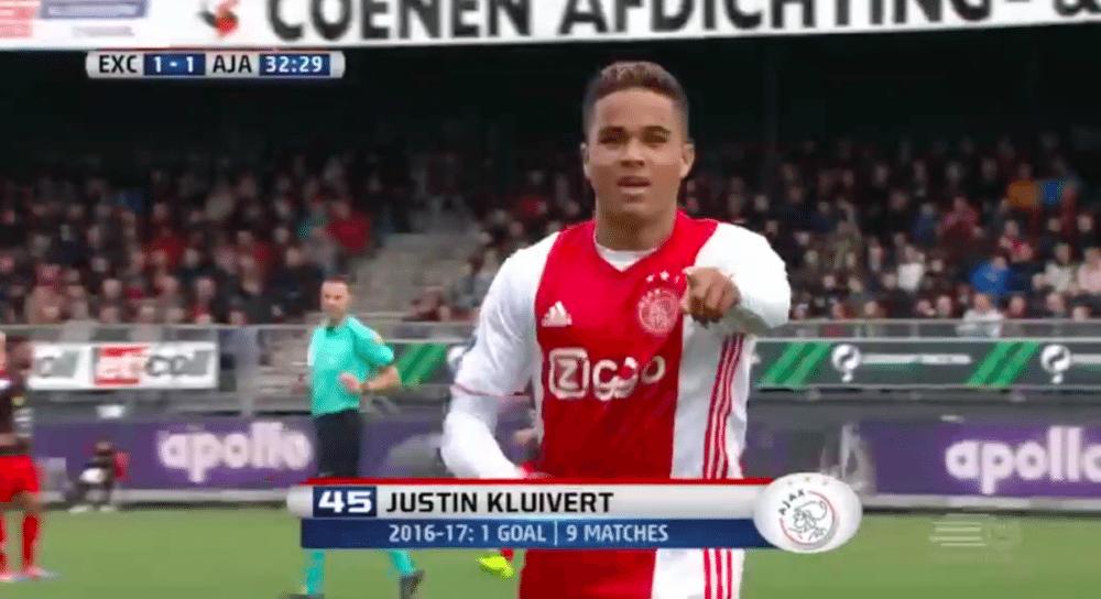Kluivert scoort eerste in de Eredivisie