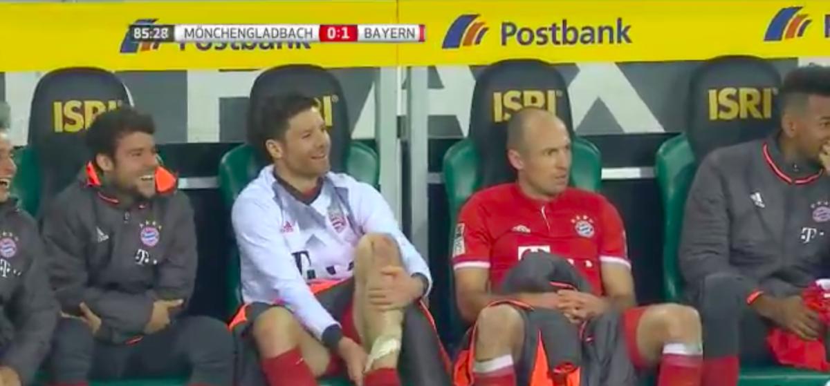 Robben woest op coach na wissel