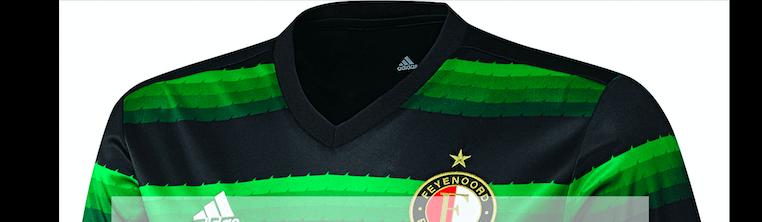 Update: Feyenoord inderdaad in zwart-groen uitshirt