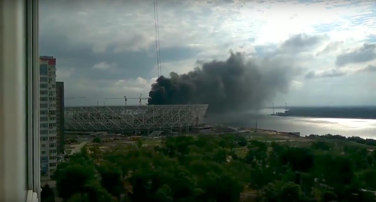 WK-stadion in Rusland vat vlam