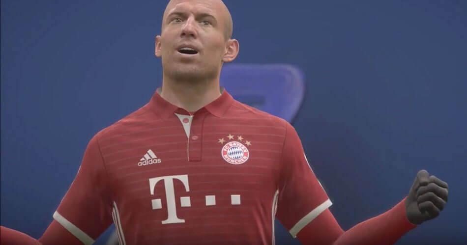 Er is iets goed mis met Arjen Robben in FIFA 18