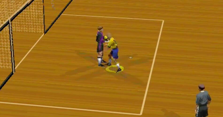 In FIFA 98 kon je nog slaan, schoppen en schwalbes maken