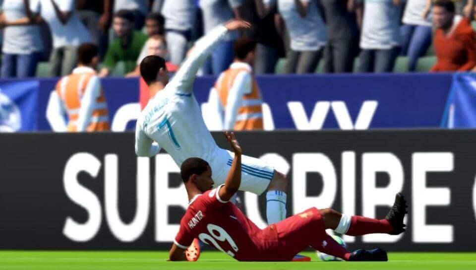 Wat gebeurt er als Alex Hunter Ronaldo blesseert?