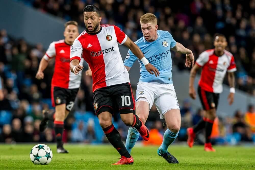 Feyenoord uitgeschakeld na nipte nederlaag tegen City