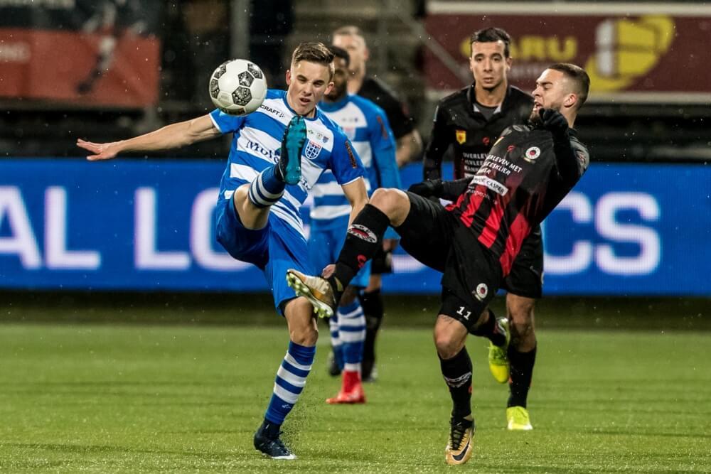 PEC wint in Kralingen en komt op gelijke hoogte met Ajax