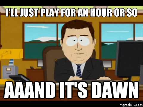 Gaming all night meme
