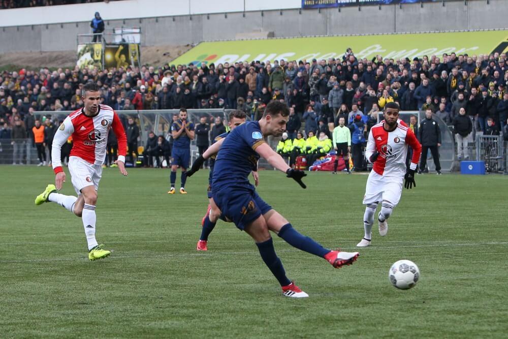 Feyenoord gaat in slotfase onderuit in Venlo