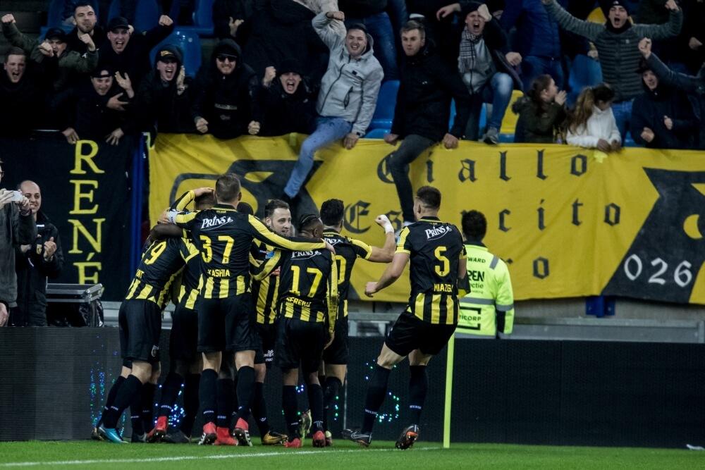 Feyenoord met negen man onderuit bij Vitesse