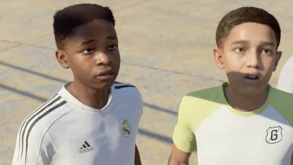 Je kunt een City-speler tussen het United-publiek spotten in FIFA 18