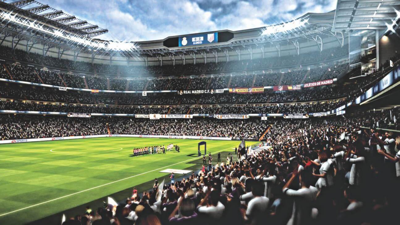 Je kunt een City-speler tussen de United-fans spotten in FIFA 18