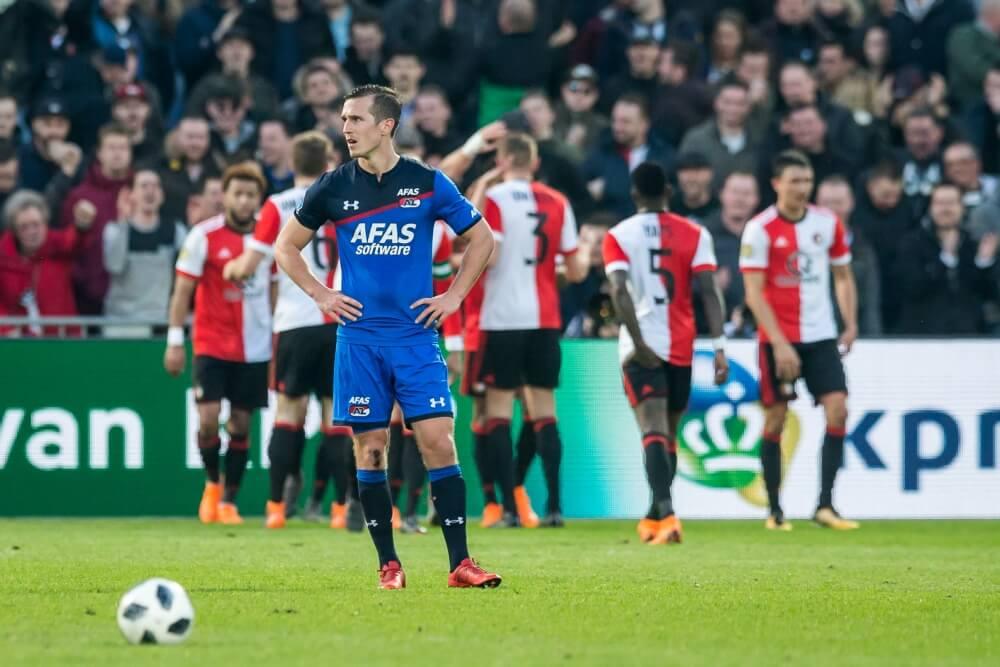Feyenoord wint nipt van AZ