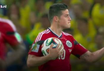 Tijdens het WK in Brazilië had James een grote vriend op zijn arm