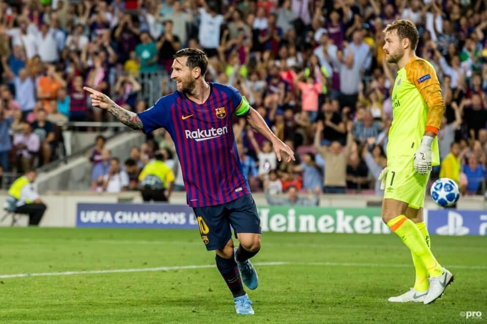 PSV verliest van Messi en Co