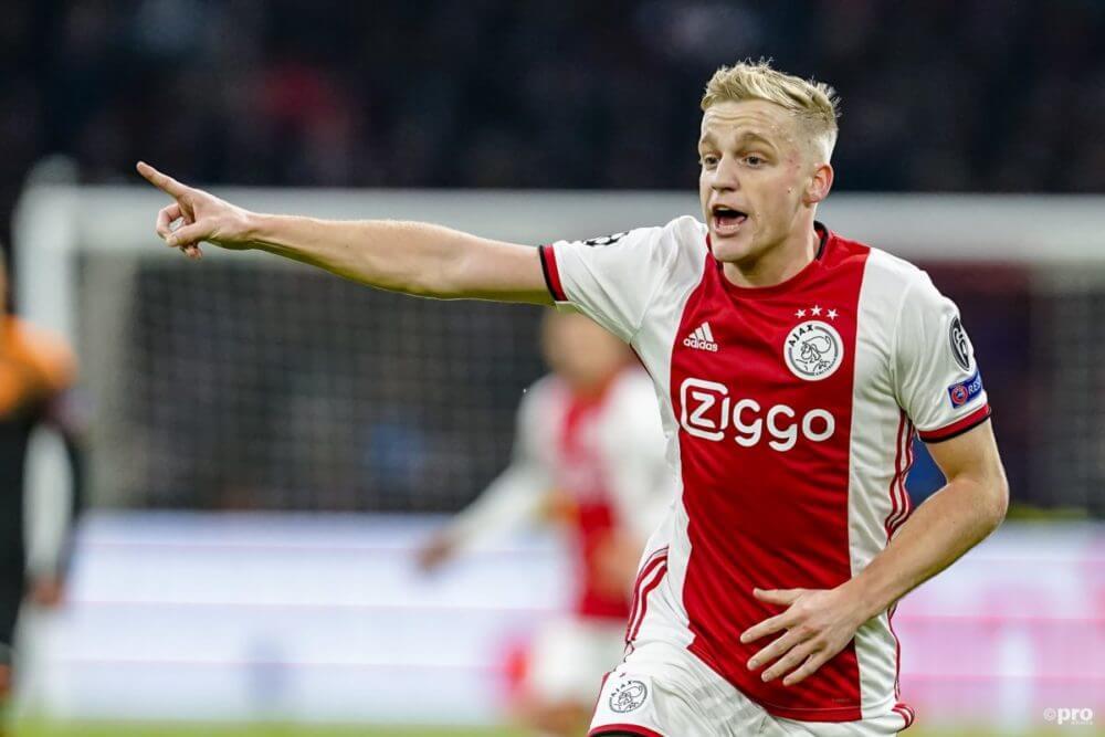 Van de Beek vertrekt bij Ajax