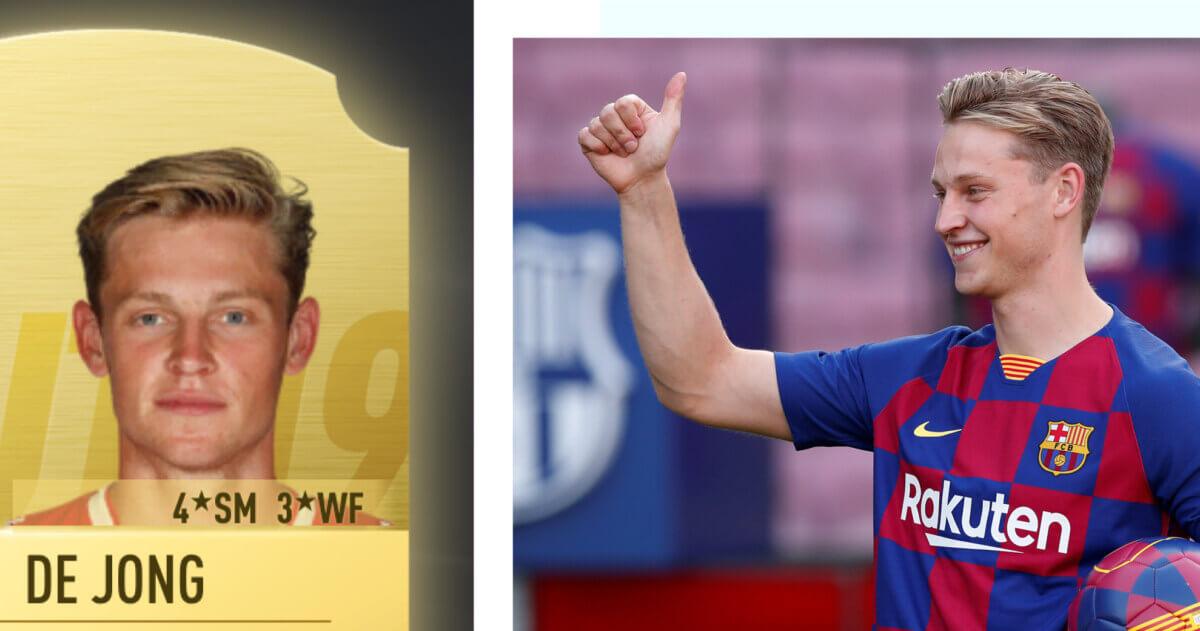 Frenkie de Jong lijkt gruwelijke rating te krijgen in FIFA 20